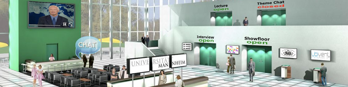 Virtual information fairs by the University of Mannheim