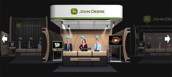 John Deere's online career fairs