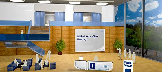 Die globalen virtuellen Meetings von Roche